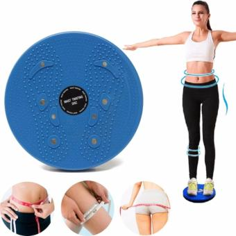 Waist Twisting Disc Figure Trimmer Fitness Board-(Blue)