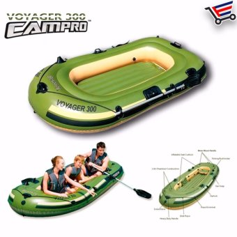 Water Sport Inflatable Boat Voyager 300 with 2 Oars and Mini AirPump