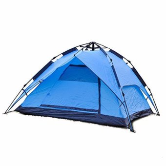 Waterproof Automatic Outdoor 6 Person Double Layer Instant CampingFamily Tent-blue