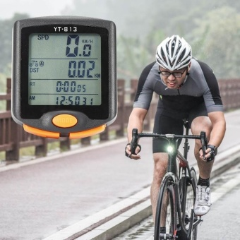 Waterproof MTB Bike Cycle Wireless Digital Computer Speedometer Odometer - intl