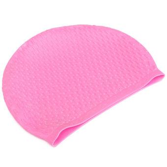 Waterproof Silicone Swim Long Hair Cap - INTL