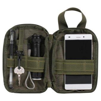 Waterproof Tactical Waist Bag Outdoor Compact Cellphone Pouch(Green) - intl