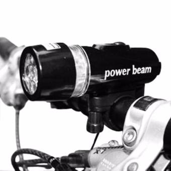 Wawawei Bike Bicycle 5 LED Power Beam Front Head Light HeadlightTorch Lamp (Black) with free Finger Ring Mobile Phone SmartphoneHolder Stand for iPhone (Silver) - 4