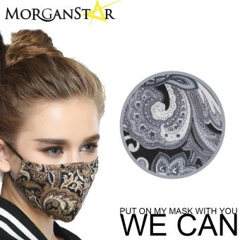 Wecan 2.5 pm dustproof floral cotton face masks with activatedcarbon (Female)
