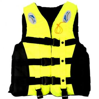 Whistle+Adult Life Jacket Swimming Boating Sailing Drifting Life vest S (Yellow)