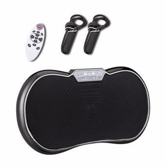 Whole Body Vibration Plate Aerobic Fat Burning Healthful Machine w/Remote and Rope (Black)