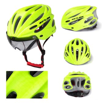 Whyus-Durable GUB Plus Cycling Bicycle Adult Safety Road BikeHelmet Head Protector With Visor Green - intl Price Philippines