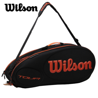Wilson polyurethane equipment square tennis bag shuttlecock bag