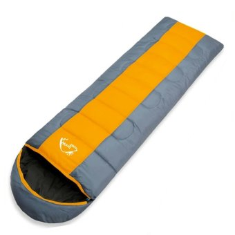 Wind Tour Thermal Adult Sleeping Bag Autumn Winter Envelope Hooded Outdoor Travel Camping Water Resistant Thick 1.3kg Orange