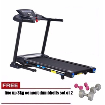 Winnow WP-663SW Motorized Treadmill 2HP FREE LIVE UP 3KG CEMENTDUMBBELL Price Philippines