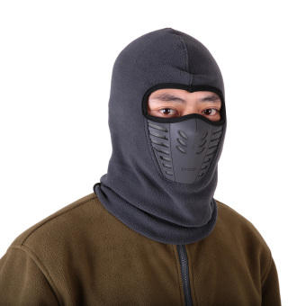 Winter Fleece Warm Full Face Cover Anti-dust Windproof Ski Mask - intl