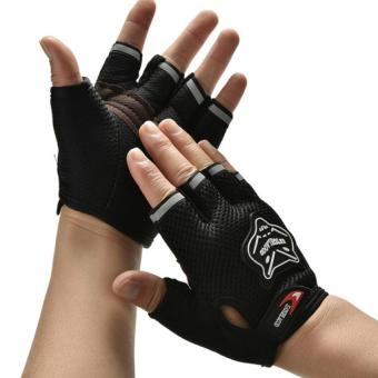 Women Men Body Building Fitness Exercise Weight Lifting Gloves Gym Training Black