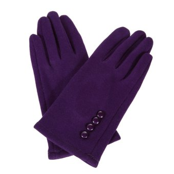 Women Winter Warm Gloves Touch Screen Sport Ski Gloves Mittens Purple