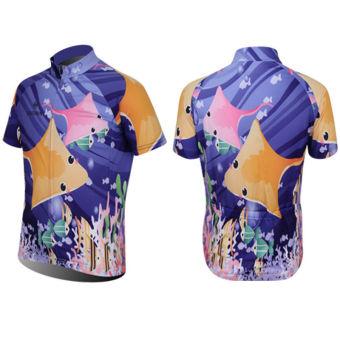 XINTOWN Men's Bicycle Jersey Ocean Print - picture 2