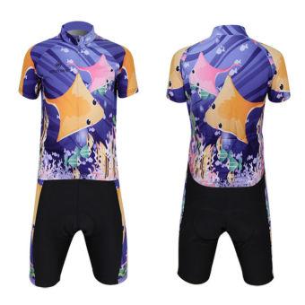 XINTOWN Men's Bicycle Jersey Short Set Ocean Print - picture 2