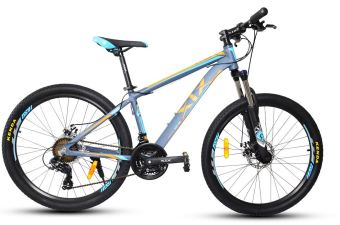 XiX X8 26 Mountain Bike (Gray/Blue/Orange)