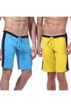 Yazilind Low Rise Sport Shorts (Yellow)