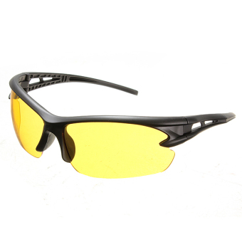 Yellow Lens Night Vision Goggles Sunglasses Driving Riding Sport Glasses UV400