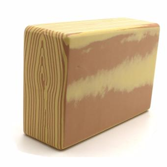 Yoga Brick Foam for Exercise and Health Fitness (WoodenBrown) - 4