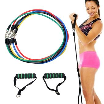 Yoga Fitness Exercise Resistance Bands Stretch Heavy Duty Tubes - intl