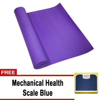 Yoga Mat 68'' x 24'' (Violet) With FREE Mechanical Health Scale (Blue)