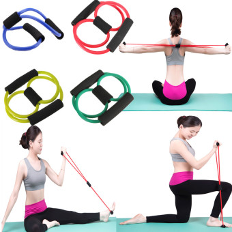 Yoga Resistance Band Tube Stretch Body Fitness Muscle Workout Exercise 8 Type