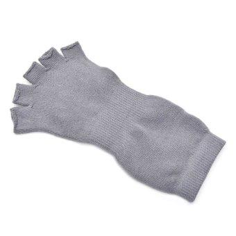 Yogini Toeless Yoga Socks (Grey/Orange)