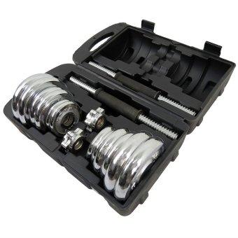 York Fitness 20kg Spinlock Chrome Adjustable Dumbbell Set - 2