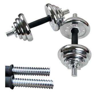 York Fitness 20kg Spinlock Chrome Adjustable Dumbbell Set - 4