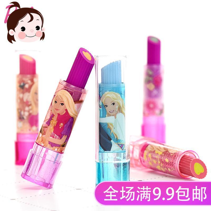 Barbie Lipstik penghapus anak-anak karet Imut Kartun kreatif Alat tulis belajar Barang siswa sekolah