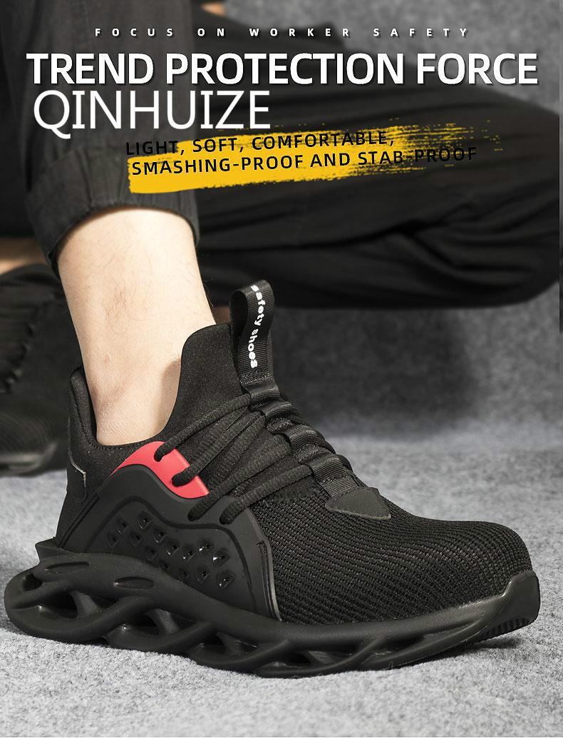 great prices uk availability discount shop New safety shoes men's smash-proof stab-resistant gas-weaving wear ...