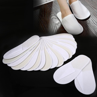 10 Pairs/Lot Disposable Guest Slippers Travel Hotel Slippers SPASlipper Shoes Comfortable New - intl