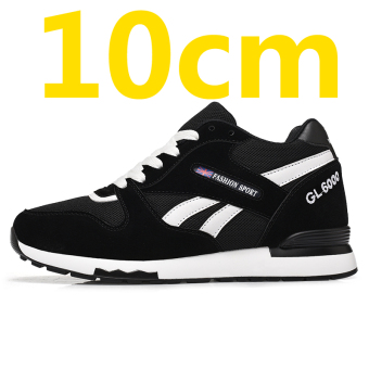 10cm8cm6cm 6cm Korean-style men elevator men's shoes hidden increased shoes (Black 10cm [collection to send socks])