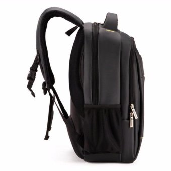 15 Inch Polyester Men's Shoulder Back Pack Men Business Laptop BagCollege Student Camputer Backpack School Bags High Quality FashionLuxury(Black) - intl - 3