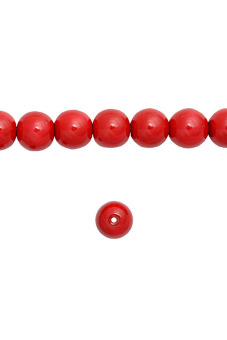 150pcs Round Glass Pearl Spacer Beads 6x6x6mm Coral Red
