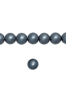 150pcs Round Glass Pearl Spacer Beads 6x6x6mm Dark Gray
