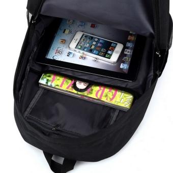 18.5inch Minecraft Logo Teenagers Backpacks Night-luminous Barcelona Travel Bags School Bag Shoulder Bags Gift for Boys Girls - intl - 2