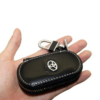 1pc Leather Key Wallet Car Key Case For TOYOTA (BLACK) - intl
