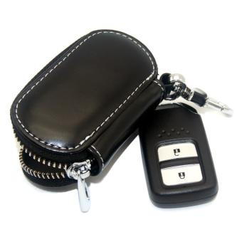 1pc Leather Key Wallet Car Key Case For TOYOTA (BLACK) - intl - 4