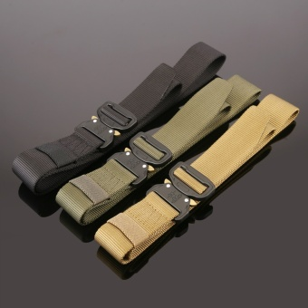 1PC Military Equipment Tactical Belt Men Casual Brand TDU ThickenNylon Adjust Metal Buckle Militar Combat Belt Male - intl