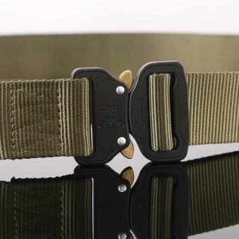 1PC Military Equipment Tactical Belt Men Casual Brand TDU ThickenNylon Adjust Metal Buckle Militar Combat Belt Male - intl - 5