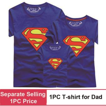 (1PC Price Dad)Superman Family Matching Outfits Mother Daughter Men Women Girls Boys T-Shirt Top Tee Clothes Clothing - intl