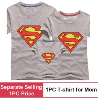 (1PC Price Mom)Superman Family Matching Outfits Mother Daughter Men Women Girls Boys T-Shirt Top Tee Clothes Clothing - intl