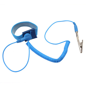 1x Anti Static Antistatic Elastic Wrist Strap Band ESD Grounding Wristband Blue