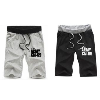2 PCS Men Casual Workout Running Sport Jogging Jogger Short Pants - intl