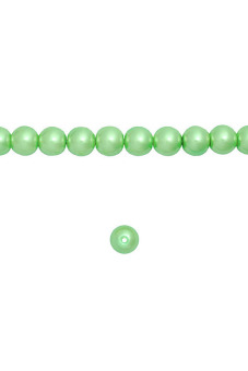 200pcs Round Glass Pearl Spacer Beads 4x4x4mm Light Green