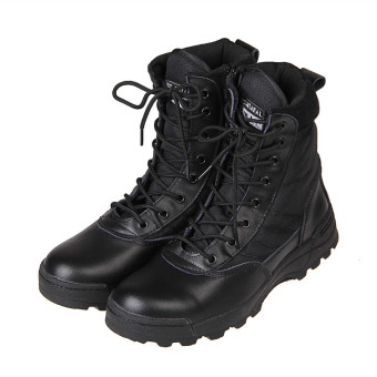 2015 NEW Tactical Army Mens Lace Up Shoes Sports Desert Ankle Boots Waterproof - Intl