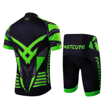 2016 Fastcute Brand Summer Quick Dry Short sleeve Top and Shorts Cycling jersey Bycicle Bike Breathable Wear Set FC-0124 - 2