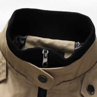 2016 New Fashion Autumn Male Casual Jacket Solid Fall Mens Jacketsand Coats Men's Jacket Plus Size 3XL 4XL 5XL - intl - 2
