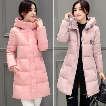 2016 New fashion long winter jacket women coat thicken length jacket (Gray)